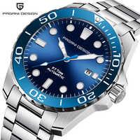 Diseño PAGANI 2019 nuevo reloj de pulsera mecánico de marca de lujo de acero inoxidable para hombre