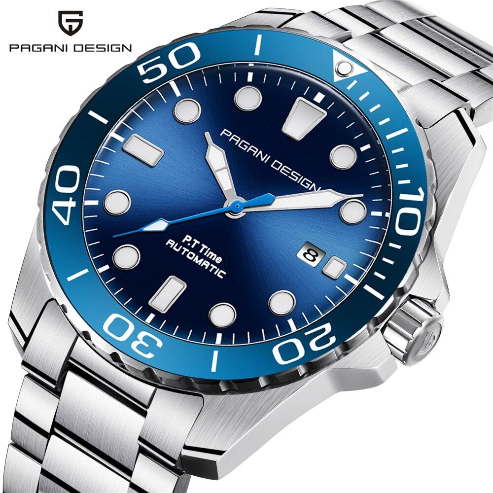 PAGANI Дизайн 2018 Новый Спорт Бизнес нержавеющая сталь для мужчин часы Элитный бренд для мужчин модные механические наручные часы дропшиппинг