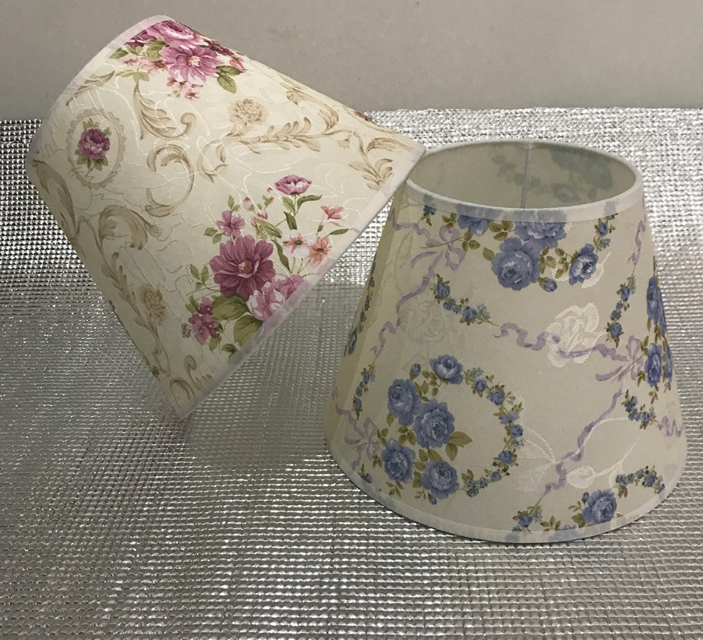 ᐊ Lamp Shade For Table Lamps Painting Flower Abstract Pattern