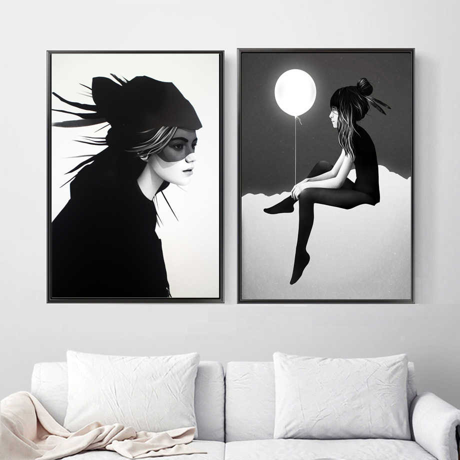 постер черно белый в спальню мечети можно
