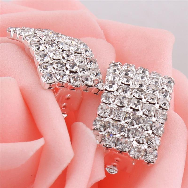Grace Jun Gaya Baru Berlian Imitasi Kristal Klip Geometri pada - Perhiasan fesyen - Foto 4