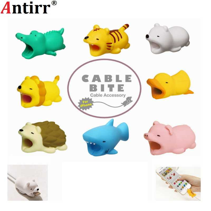 Cable Management Protector Winder Cable Animal Bite Shaped Tiger Cable Dog Bite Shape Earphone Accessories