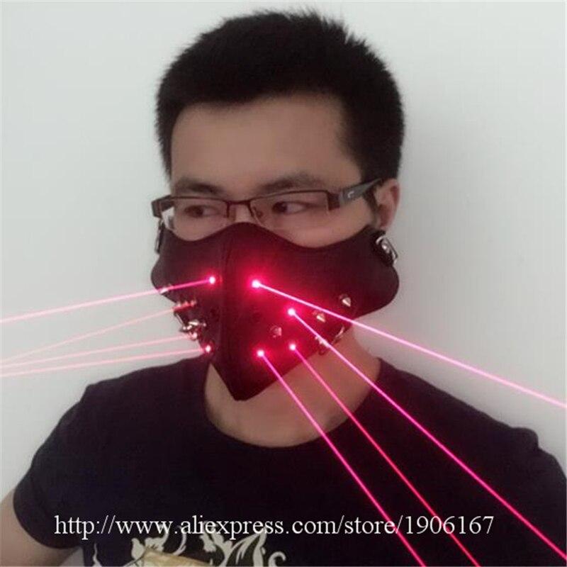 Neueste Rote Laser Maske Leuchtenden Leuchten Laserman Anzeigen Halloween Masken Für Laser bühnenshow Tänzerin Partei Liefert