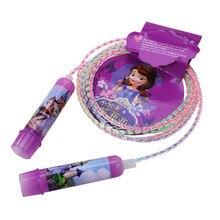 Mesuca Disney MICKY Prices FROZEN SOFIA 8 Feet Plastic Rainbow Rope Fitness Speed Jump rope Children Exercise gym