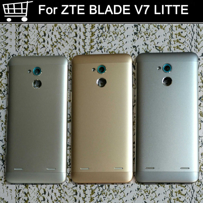 With LOGO Battery Back Cover Power volume on off button For ZTE Blade V7 V 7 Lite Housing Door Case Without back camera glass
