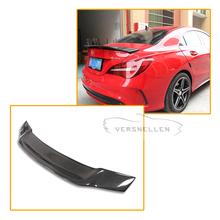 Renntech Look Wing For Mercedes CLA CLA45 W117 C117 Matt Carbon Fiber Rear Trunk Lid Spoiler CLA180 CLA200 CLA250 CLA260 2013 ON