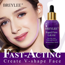 BREYLEE Essential Oils Rapid Firming Lifting Face Essence Oil Massage Anti Wrinkle Anti-Aging V Shape Facial Skin Care ! tighten chin face care anti aging anti wrinkle essential oil whitening firming massage oil pure natural extract beauty skin care