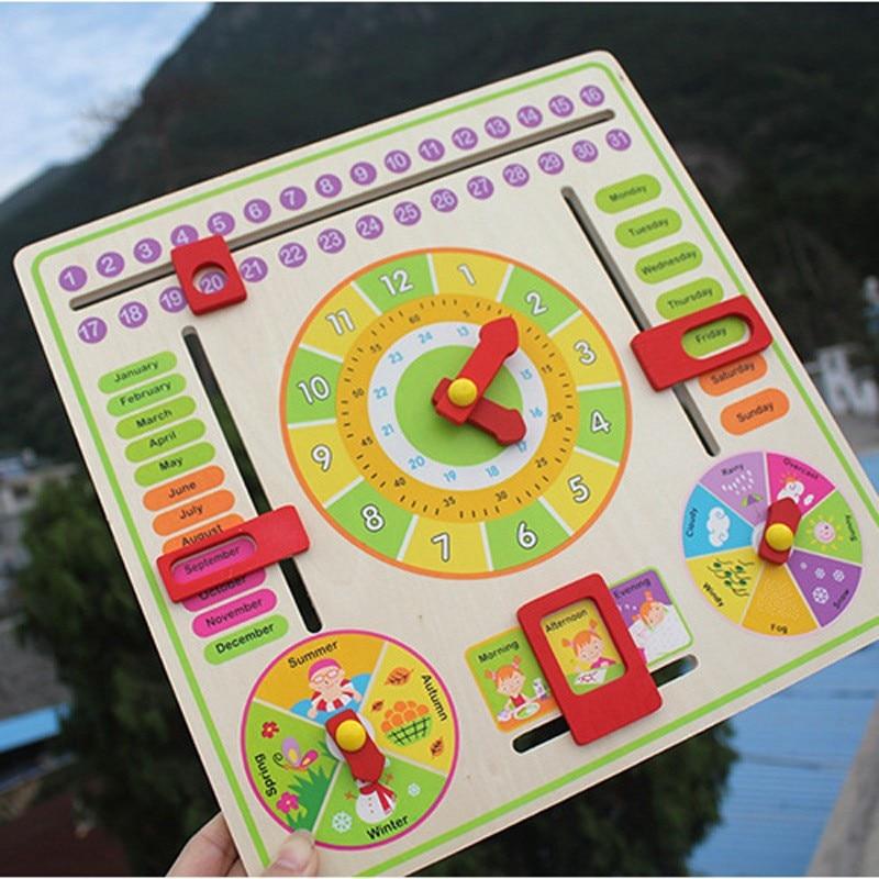 lemn Hanging puzzle jucării puzzle / copii și copii asambla puzzle de lemn cu timp / lună / an jucării educative, transport gratuit
