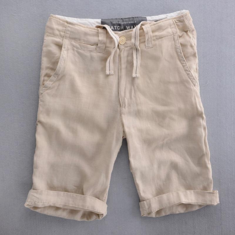 Online Shop Men Shorts 2015 Summer Linen Casual Straight Shorts ...