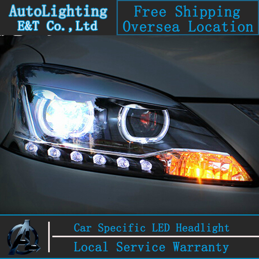 Car styling led head lamp for nissan almera headlights 2013 sentra led headlight sylphy drl h7