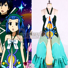 Free Shipping Custom Made Fairy Tail Wendy Marvell Dress Cosplay Costume