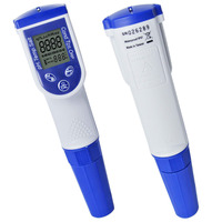 6 in 1 Pen type Water Quality Meter pH Temperature Conductivity EC TDS Salt Tester optional ORP ( Made in Taiwan )