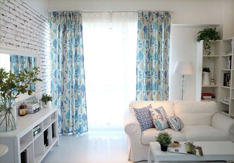 Новый Хлопок Ткань Материал гостиная балкон шторы ...