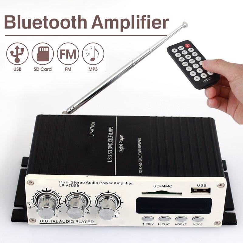 Vehemo Infrared Remote Control Bluetooth Audio Amplifier Bluetooth Power Amplifi