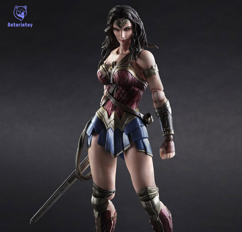 Batman V Superman Wonder Woman Play Arts Kai figure 1/6 scale painted variant Doll Anime PVC Action Figure Collectible Model Toy star wars red royal guard 1 8 scale painted variant red royal guard doll pvc action figure collectible model toy 17cm kt3255