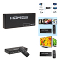 5 Порт 1080 P Видео HDMI Switcher HDMI Splitter Концентратор Box + ИК-Пульт Для HDTV PS4 Кабель