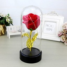 5 Colors LED Artificial Flowers Battery Powered Red Flower String Light Desk Lamp Romantic Valentines Day Birthday Gifts