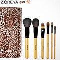 ZOREYA Marca de Alta Calidad de Cabra Animal 28 unids Pincel de Maquillaje Profesional Maquillaje Pinceles Como Herramienta de La Belleza