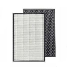 Filtro de carbón activado Hepa para purificador de aire fuerte, KC D50, KC E50, KC F50, filtro de carbón activado 40*22*2,8 + 40*22*1cm