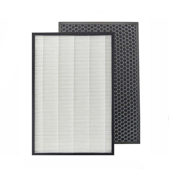 Purificador de ar para filtro de carbono, para filtro de carbono afiado KC D50 KC E50 KC F50 KC D40E hepa 40*22*2.8 + 40*22*1cm