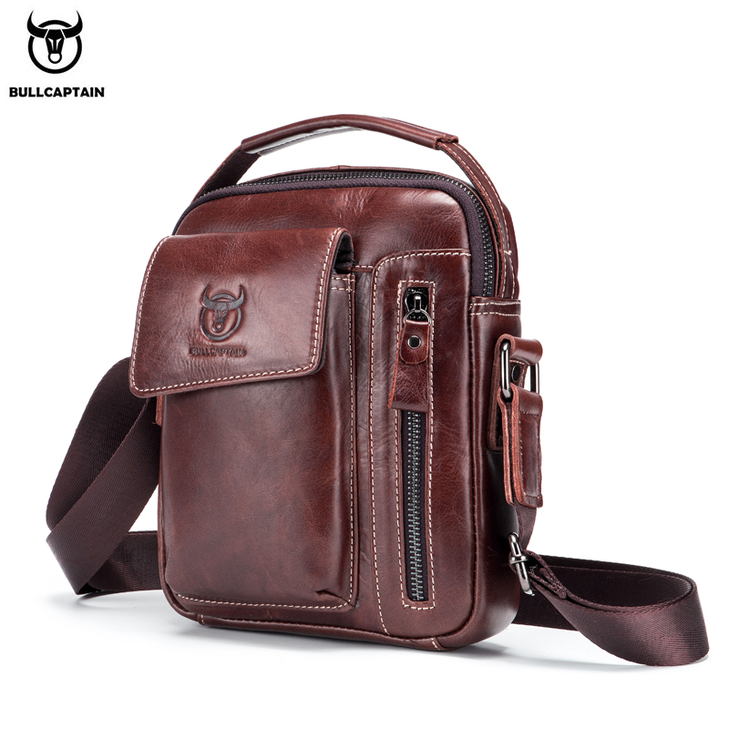BULLCAPTAIN 2019 Genuine Leather Men Messenger Bag Casual Crossbody Bag Business Mens Handbag Bags for gift brand shoulder bagBULLCAPTAIN 2019 Genuine Leather Men Messenger Bag Casual Crossbody Bag Business Mens Handbag Bags for gift brand shoulder bag