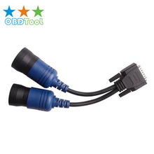 6- and 9-pin Y Deutsch Adapter for NEXIQ 125032 USB Link Diesel Truck Diagnose Interface Autto Scanner  Adapter Cable JC20