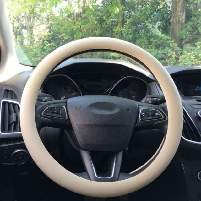 Cubierta del guante del volante del silicón del coche de la textura del cuero cubierta suave del volante del silicio suave de la piel Universal del Multi Color