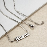 Custom Necklace Name Mama Personalized Engraved nameplate Word Charm Jewelry Stainless Steel Pendant Necklace Meaningful Gift