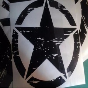 """Image 5 - New Army Star Distressed Decal Large 16"""" Approx Vinyl Military Hood Graphic Body 40CM Sticker Fits For Jeep Fashion Cool#274981"""