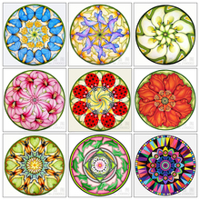 Diy 5D Diamond Painting flower Mosaic Cross Stitch Kit butterfly mandala Embroidery Square Drill Home Decoration
