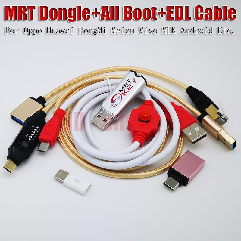 2020 New Version MRT Dongle 2  Key + For Xiao Mi 9008 BL Unlock Cable + UMF All  Boot Cable  Best Configuration