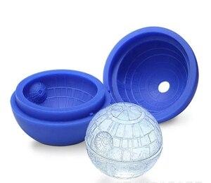 Molde de hielo, bandeja de silicona para cubitos de hielo, forma de bola, estrella de la muerte azul, bola redonda, bandeja con moldes para cubitos de hielo, molde de Esfera del desierto, Barware