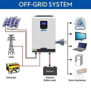 Image 2 - EASUN zasilanie 110V falownik solarny hybrydowy 3Kva 2400W inwerter Off Grid 24V 120V 80A MPPT czysta fala sinusoidalna przetwornica 60A ładowarka AC