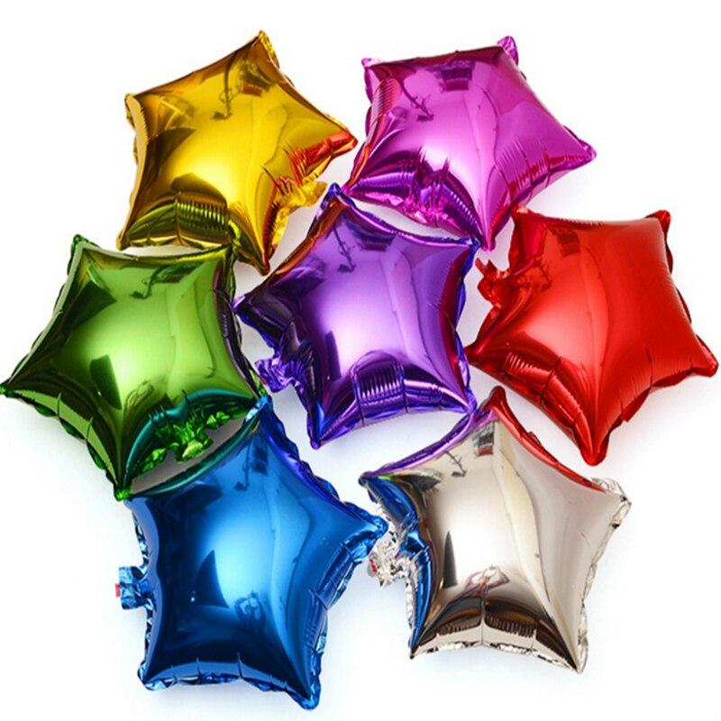 2017 cute shining star decoration foil balloon birthday for 7 star balloon decoration