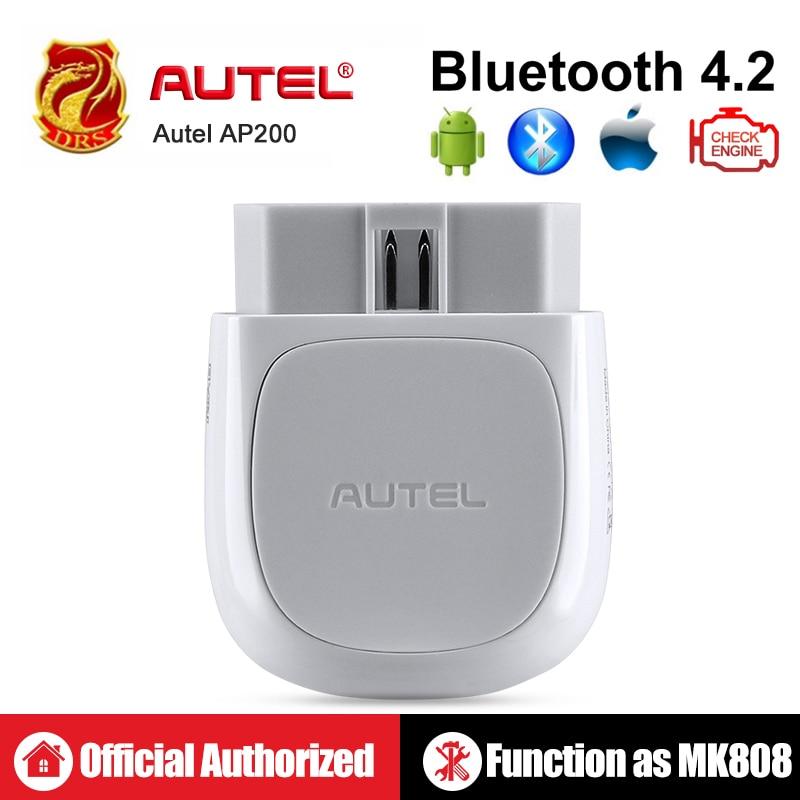 Autel AP200 Bluetooth OBD2 AutoVIN EPB Ferramenta de Scanner Leitor de Código de Diagnóstico Completo do Sistema BMS SAS TPMS DPF IMMO PK MaxiCOM MK808