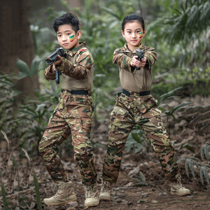 Image 2 - Mege uniforme militar para niños, traje de combate multicámara de las Fuerzas Especiales del Ejército, Multicam, Airsoft, equipo de Paintball CS