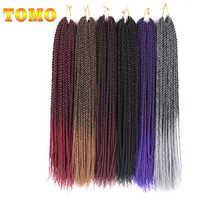 """TOMO 14 """"16"""" 18 """"20"""" 22 """"30 brins synthétiques sénégalais torsion Crochet Extensions de cheveux Ombre cerveau havane torsion Crochet tresse"""