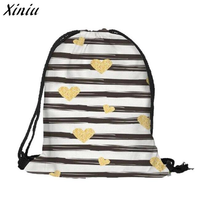 e7a5ef2ddbc5 Xiniu Best Quality Women Drawstring Backpacks Flower Printed Backpack  mochila feminina Female Pouch Casual Bag Travel School Bag