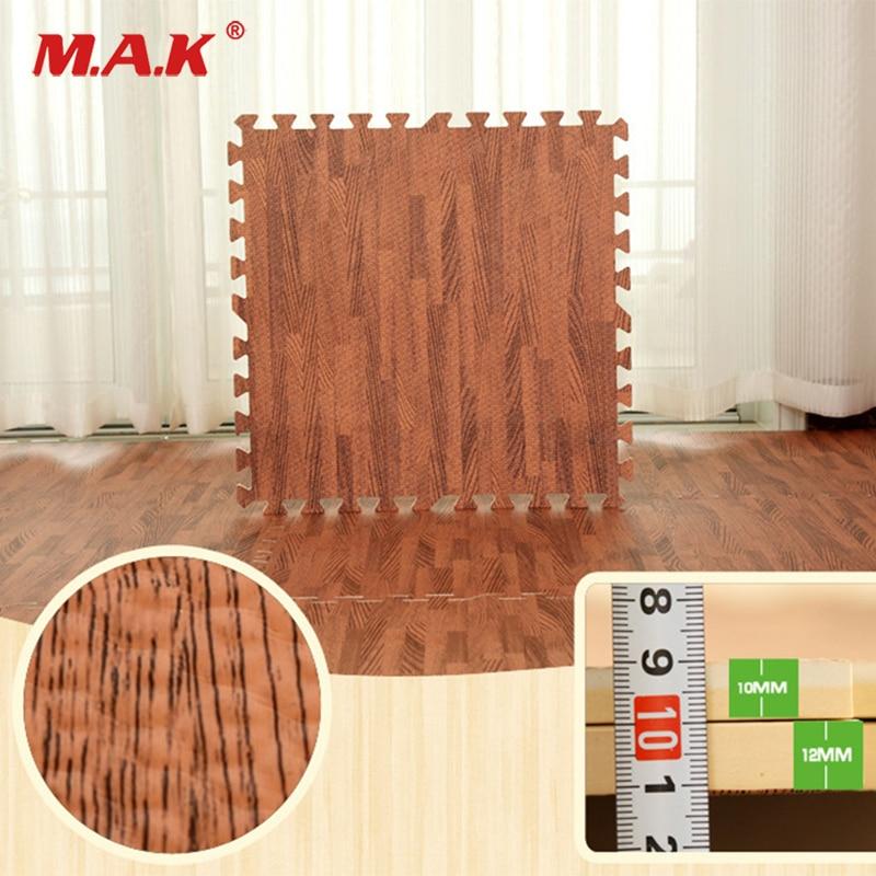 9pcs/lot home floor wood grain play mat carpet exercise gym garage bathroom waterproof rug kid play crawling EVA wood foam mat