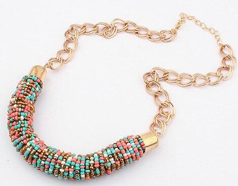 488b9d045470 2017 mujeres gargantillas collar hecho a mano collares Bohemia collar de la  Declaración tendencias de joyería para regalo de fiesta de boda en Collares  de ...