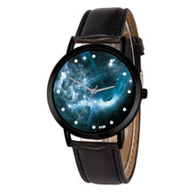Astronomy Planets Casual Quartz Space System Watch Unisex Classy Creative Unique Solar Leather Strap Analog Watches Relogio