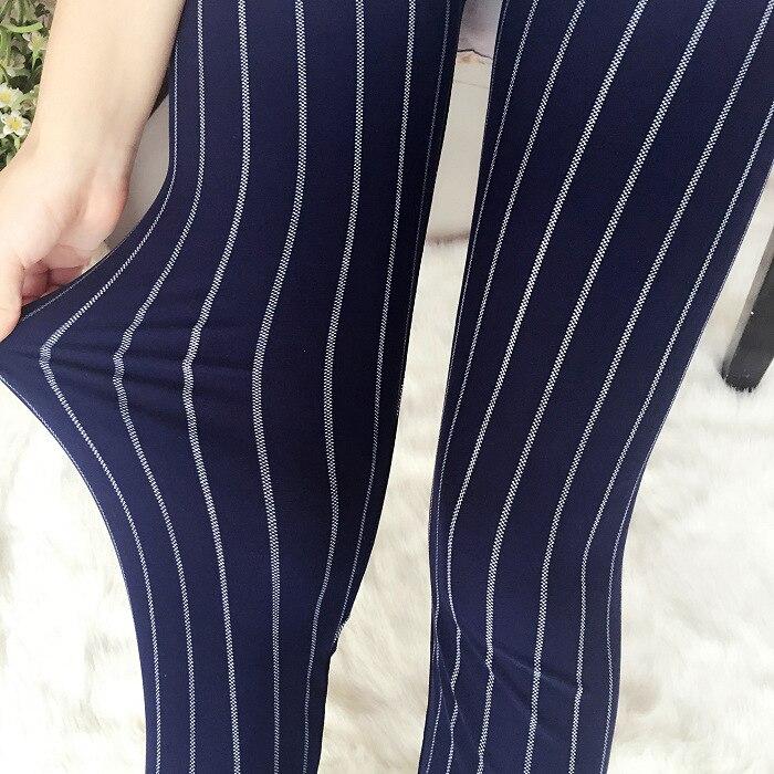 Striped Legging Lips Printed Women Spring Summer Autumn Milk Silk Brushed Leggings Soft Stretchy Leggins One Size Wear 70KGS