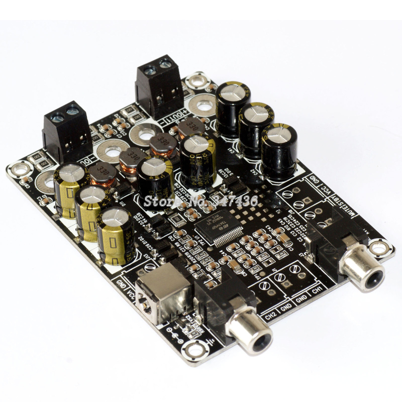 2x25w dual channel d class low power digital audio power amplifier board finished board fever. Black Bedroom Furniture Sets. Home Design Ideas