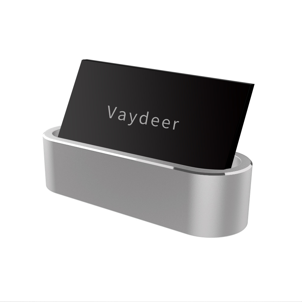 Metal Card Holder Aluminum Display Stand For Id,Debit,Business,Name,Gift Card  Desktop Organizer Container Box