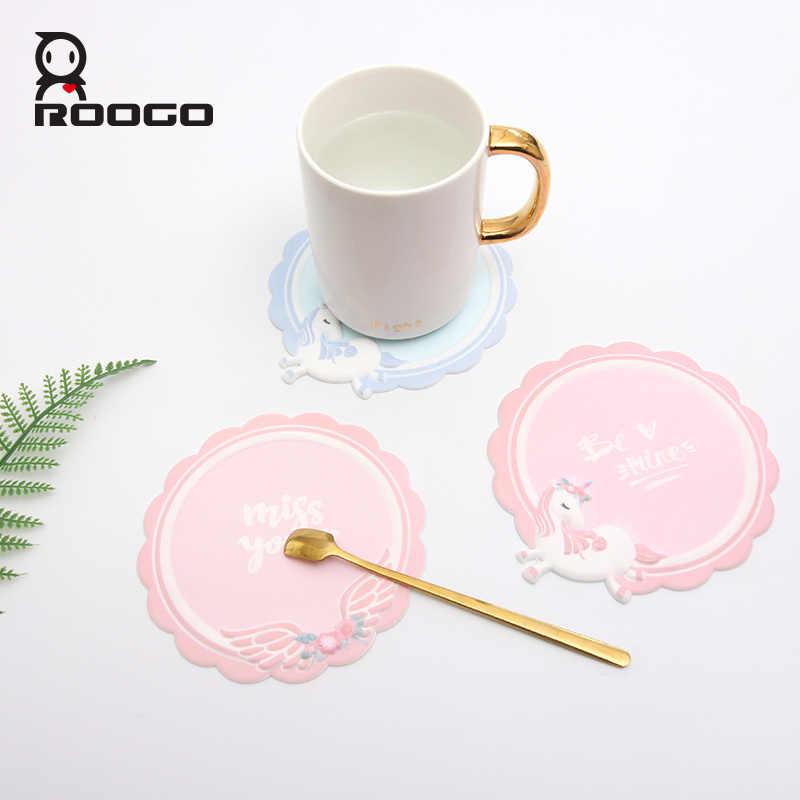 Roogo Cartoon Silicone Mat Cup Coaster Drink Coasters Hot