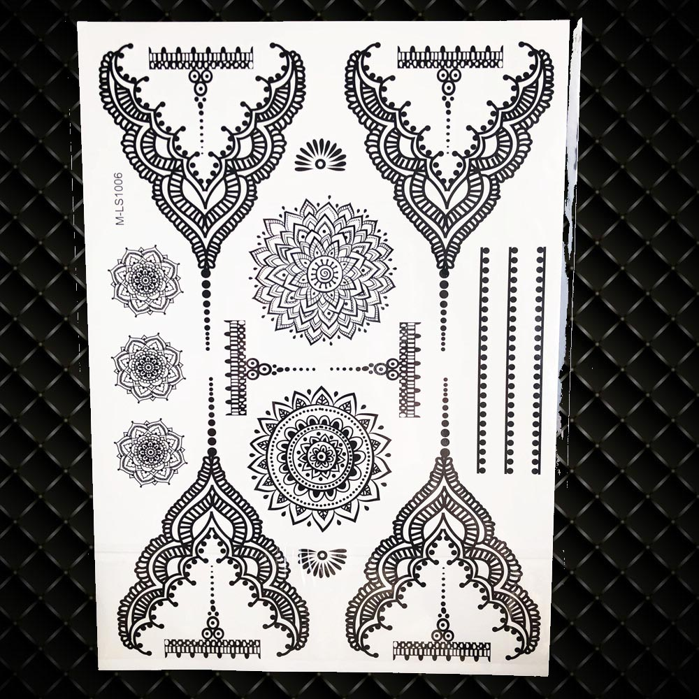 87d81c2b7 The product is already in the wishlist! Browse Wishlist · 25 Styles Sexy  Lace Black Henna Temporary Tattoo Sticker