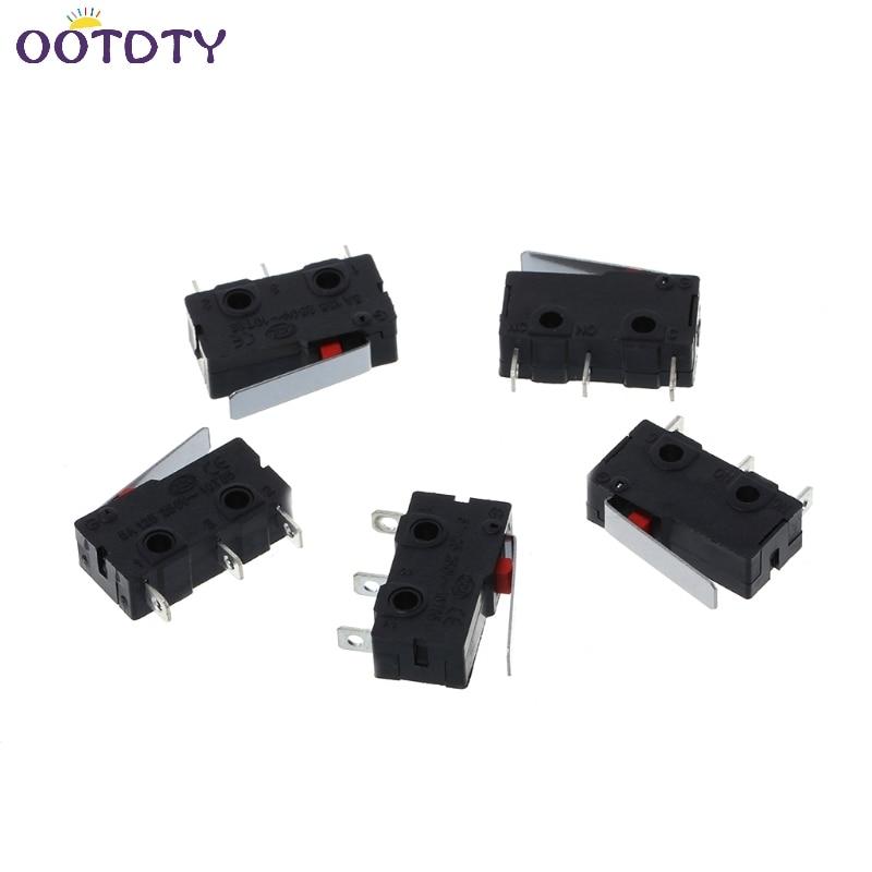 5Pcs/Set Travel Limit Switch 3 Pin N/O N/C 5A 250VAC KW11 Micro Switch -3Z