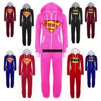 New Arrival 8 Colors Superhero Costumes Onesies Adults Superman Batman Onesies For Unisex In Stock