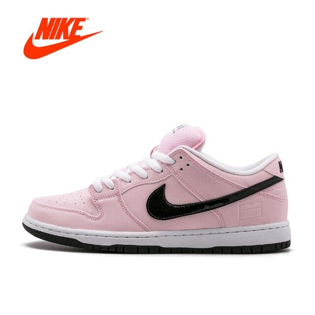 online store 2c293 33426 Originele Nieuwe Aankomst Officiële Nike Dunk SB Elite Roze Doos Ademend  vrouwen Skateboarden Schoenen Sport Sneakers