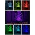 Star Wars decoración del hogar del bulbo Cabrito bedroon Lámpara Falcon 3D Interruptor Táctil Luz de La Noche Gradiente de Colores del estado de Ánimo de Iluminación Lámpara de Mesa